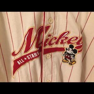 Vintage Disney Mickey All Star Jersey Size Large